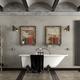 Bathroom in industrial style with bathtub - PhotoDune Item for Sale