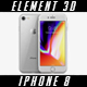 iPhone 8 - Element 3D - 3DOcean Item for Sale