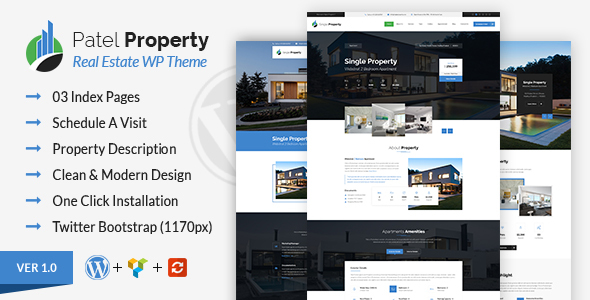 ThemeForest Patel Property WordPress Theme 20754686