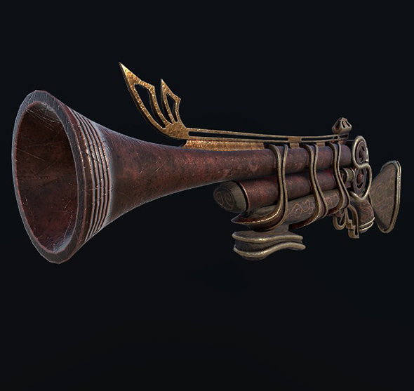 Steampunk Shotgun - 3DOcean Item for Sale