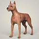 Realistic Miniature Pinscher Dog