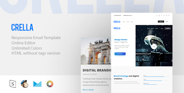 crella - Responsive Email + StampReady Builder - Email Templates Marketing