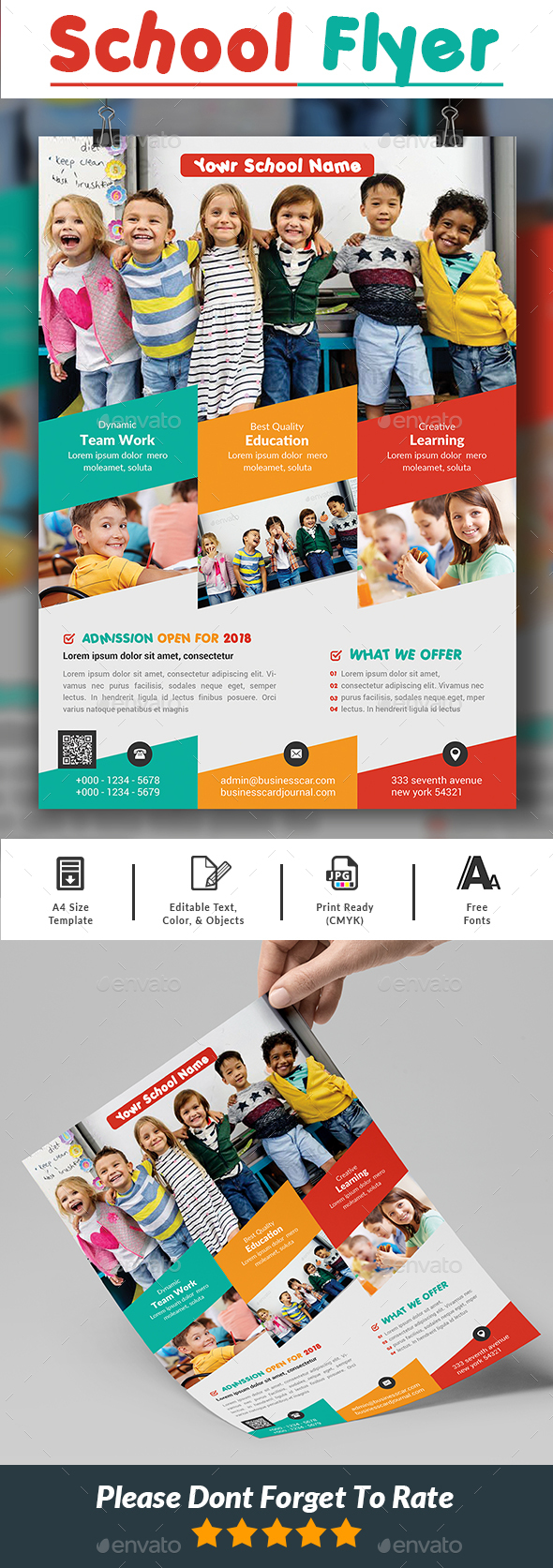 GraphicRiver School Flyer 21097845
