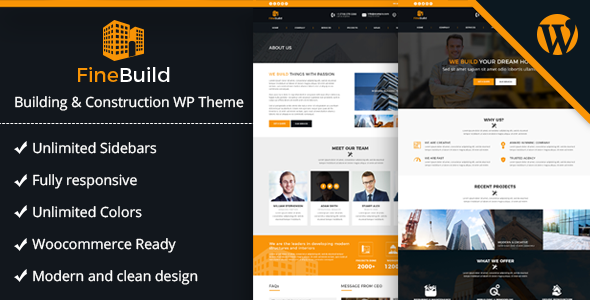 Fine Build - Building & Construction WordPress Theme - Business Corporate