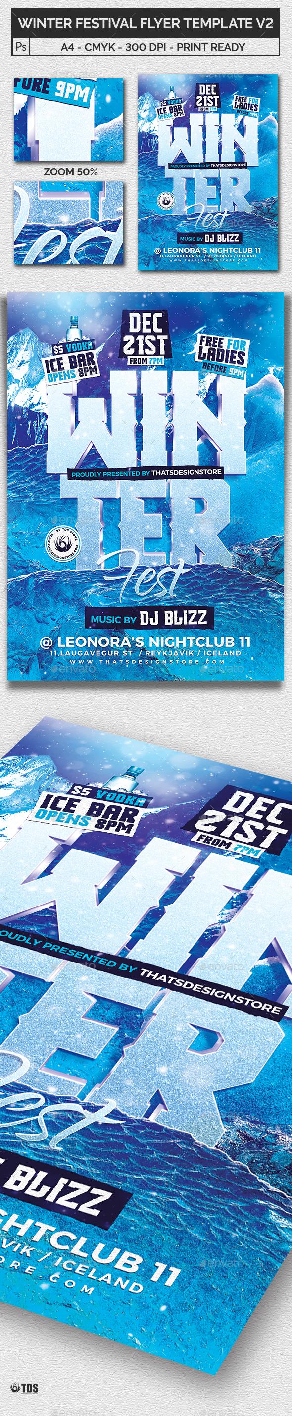 GraphicRiver Winter Festival Flyer Template V2 21097907