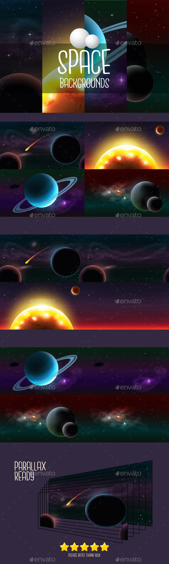 GraphicRiver Space 2D Game Backgrounds 21097930