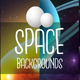 Space 2D Game Backgrounds