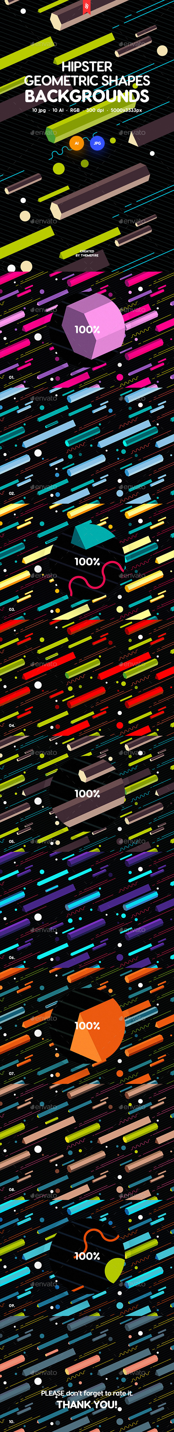 GraphicRiver Abstract Hipster Geometric Shapes Backgrounds 21097941