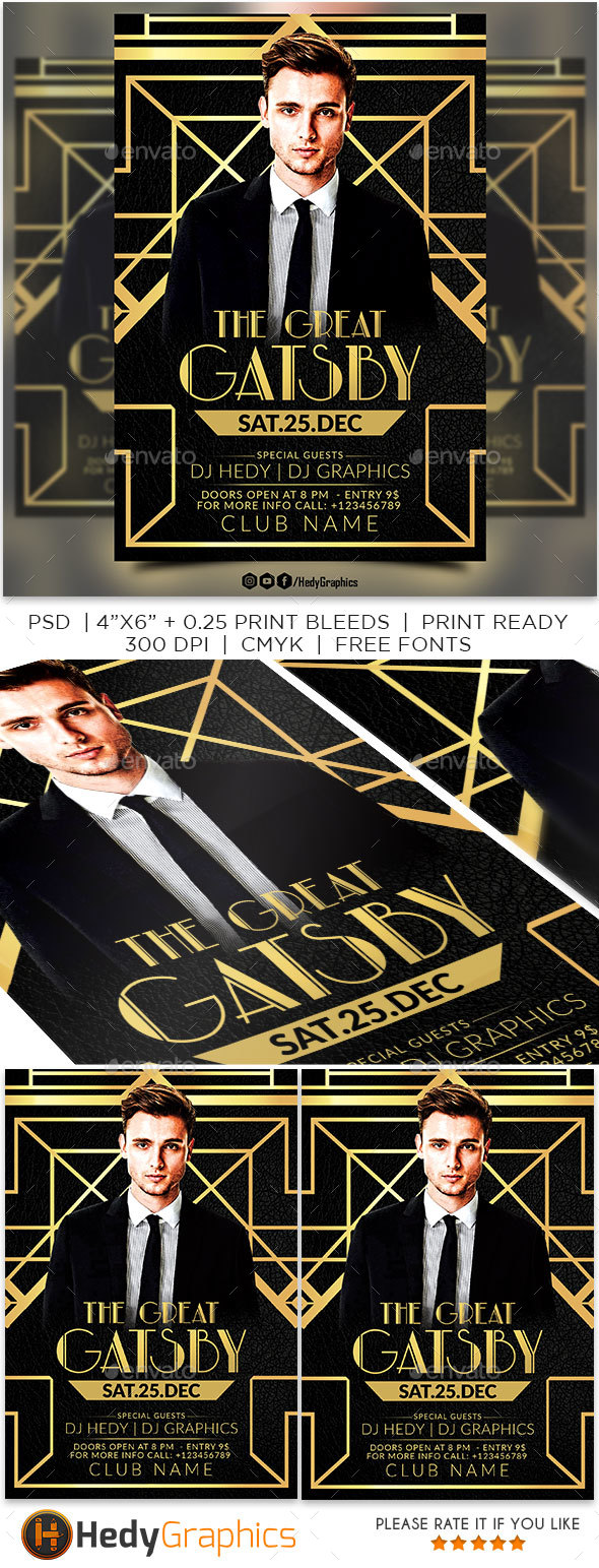 GraphicRiver The Great Gatsby Flyer 21097957