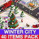 Low Poly Winter City Pack