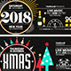 Christmas & New Year Facebook Cover Bundle