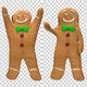 Gingerbread Man Waving (2-Pack) - VideoHive Item for Sale