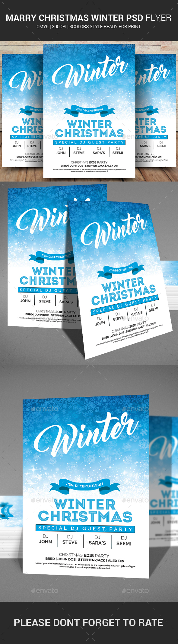 Merry Christmas Winter PSD Flyer - Events Flyers