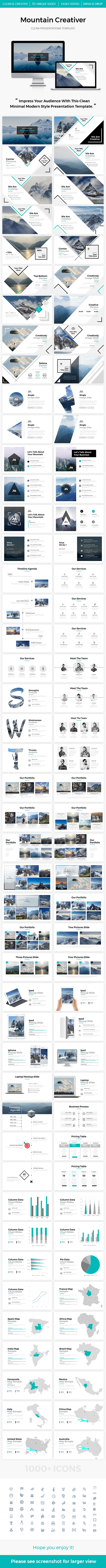 Mountain 2.0 Creativer Google Slide Template - Google Slides Presentation Templates