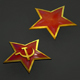 Red Star badge - 3DOcean Item for Sale