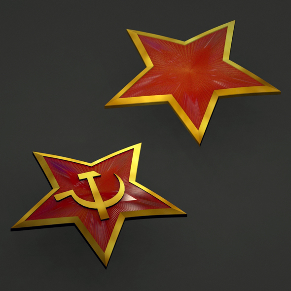 3DOcean Red Star badge 21098032