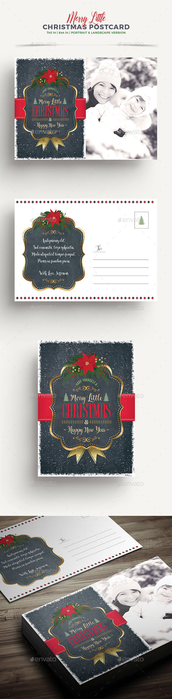 Christmas Greeting Card/Postcard - Holiday Greeting Cards