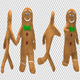 Gingerbread Man Walk And Run Animations (4-Pack) - VideoHive Item for Sale