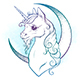 Unicorn and Crescent Moon in Pastel Colors - GraphicRiver Item for Sale