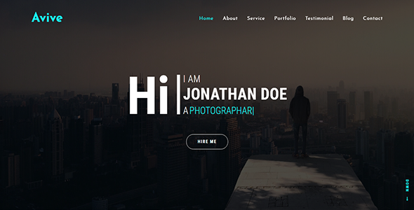 Image of Avive One Page Personal Portfolio HTML5 Template