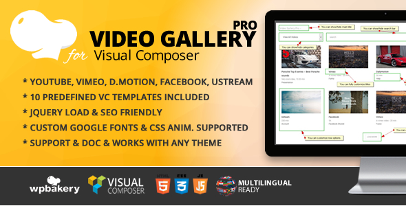 Video Gallery Pro jQuery Addon for Visual Composer Free Download | Nulled