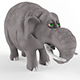 Childrens plastic toy Elephant - 3DOcean Item for Sale