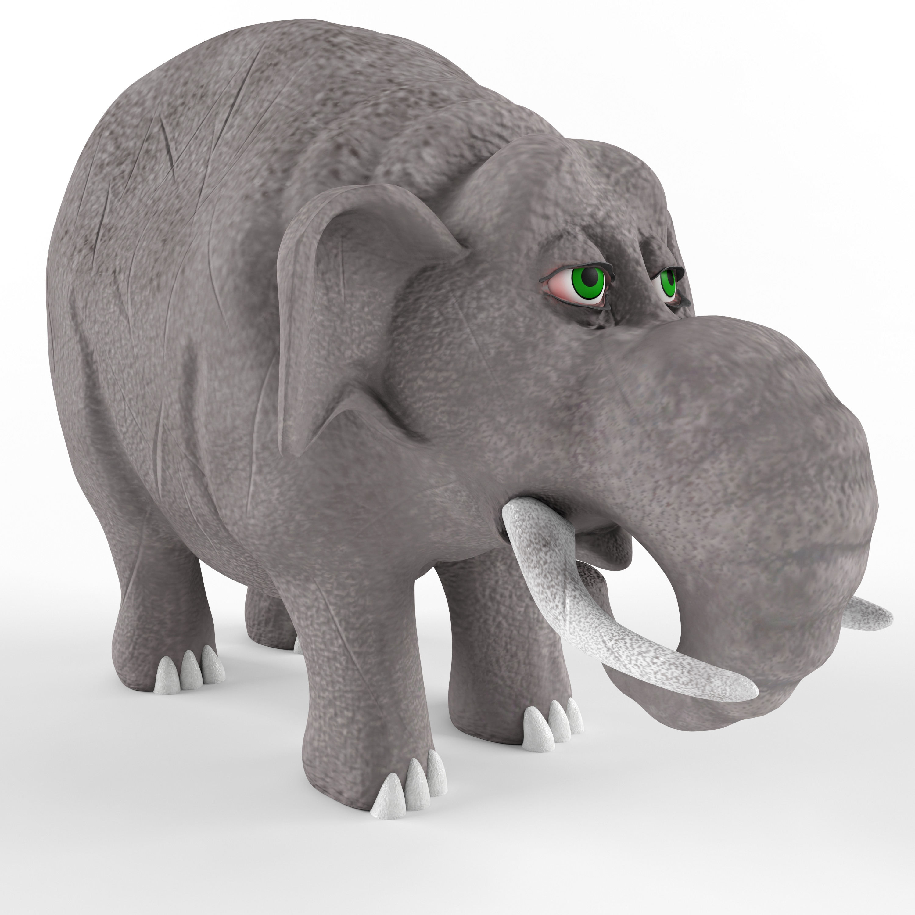 Childrens Plastic Toy Elephant By T1989 3docean