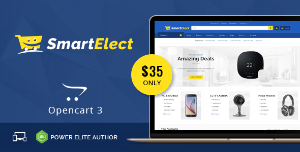ThemeForest SmartElect Multipurpose OpenCart 3 Theme 21098123