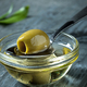 Olive oil and olive branch on the wooden table - PhotoDune Item for Sale