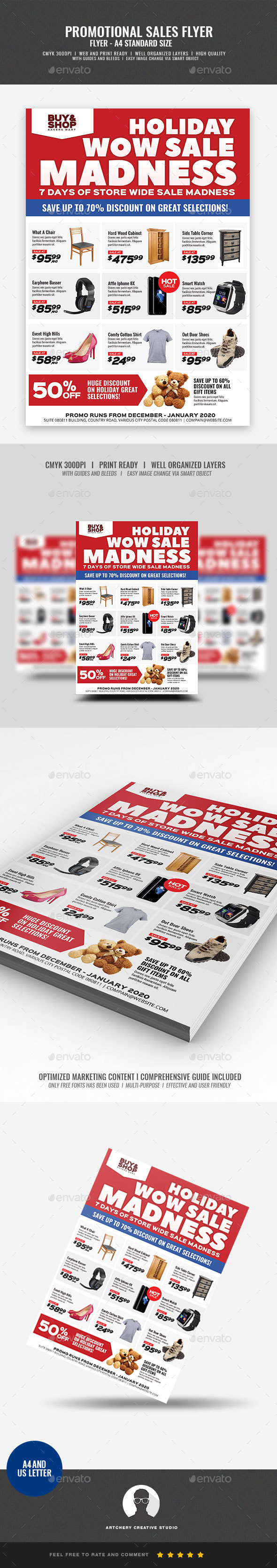 Product Sale and Promotional Flyer - Commerce Flyers
