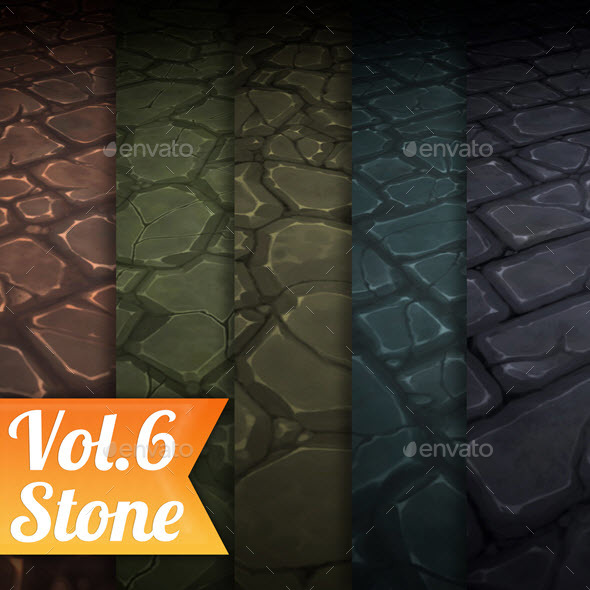 3DOcean Stone Tile Vol.6 Hand Painted Texture Pack 21098217