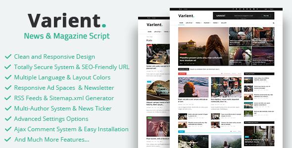 CodeCanyon Varient News & Magazine Script 21035226