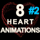 Particles Heart Animations-2 - VideoHive Item for Sale