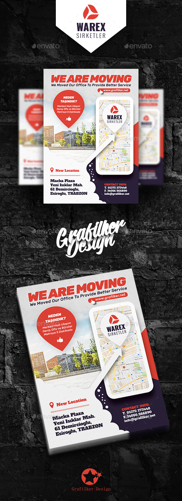 GraphicRiver Moving Office Flyer Templates 21098250