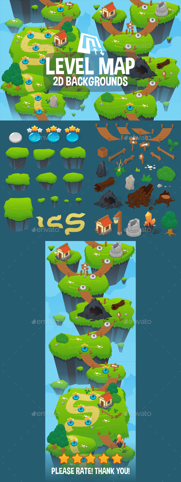GraphicRiver Level Map Backgrounds 21098277