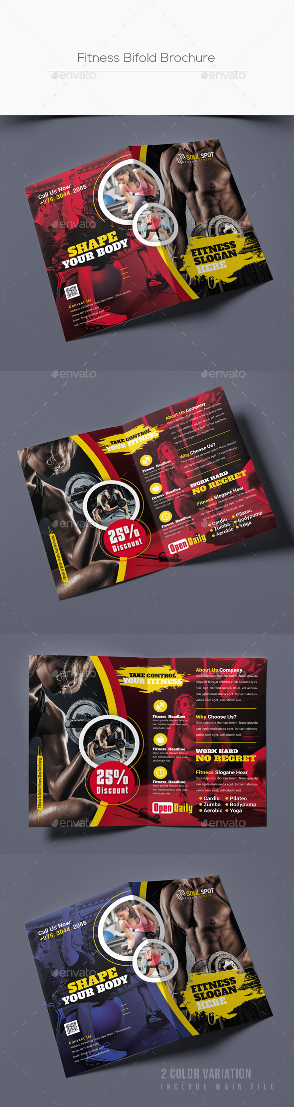 GraphicRiver Fitness Bifold Brochure 21098290
