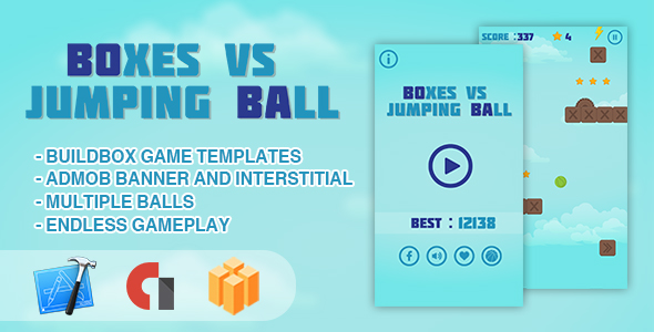CodeCanyon Boxes vs Jumping Ball IOS XCODE Source & Buildbox Template 21098305