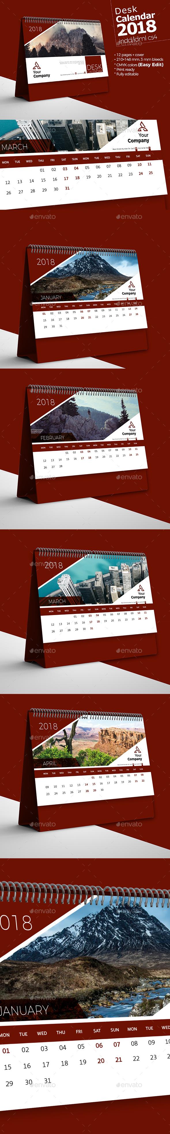 GraphicRiver Desk Calendar 2018 21098311