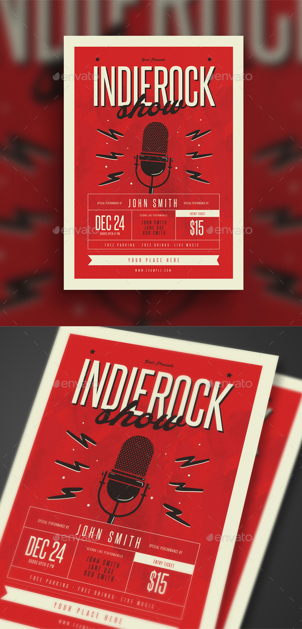 Indierock Event Flyer - Events Flyers