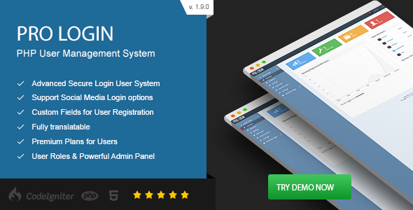 Pro Login - Advanced Secure PHP User Management System - CodeCanyon Item for Sale