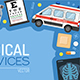 Medical Services Banner and Frame - GraphicRiver Item for Sale