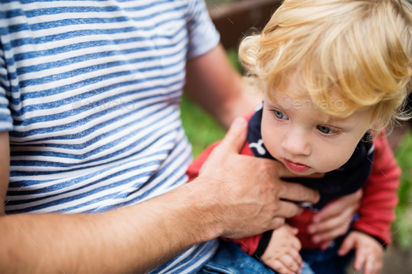 Father with little boy, summer day. - Stock Photo - Images