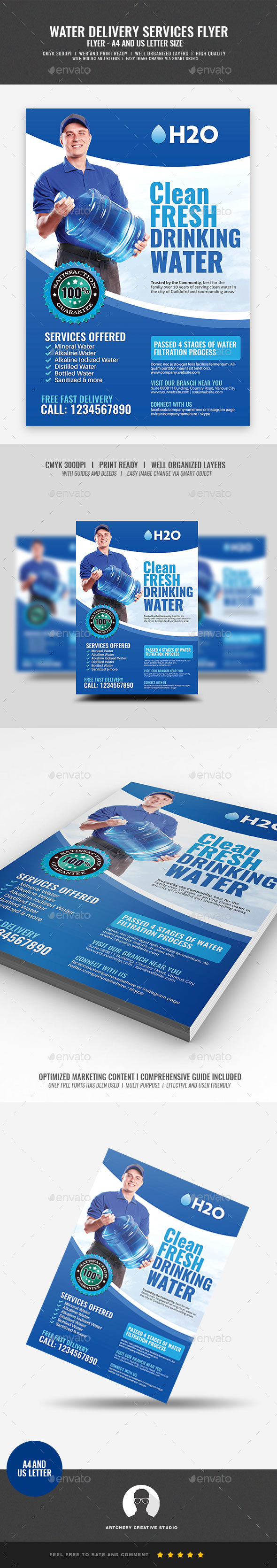GraphicRiver Watery Delivery Services Flyer 21098663