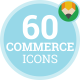 Online Sale Digital Shopping e-Commerce Technology Icon Set - Flat Animated Icons