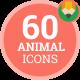 Animal Wild Zoo Wildlife Nature Icon Set - Flat Animated Icons