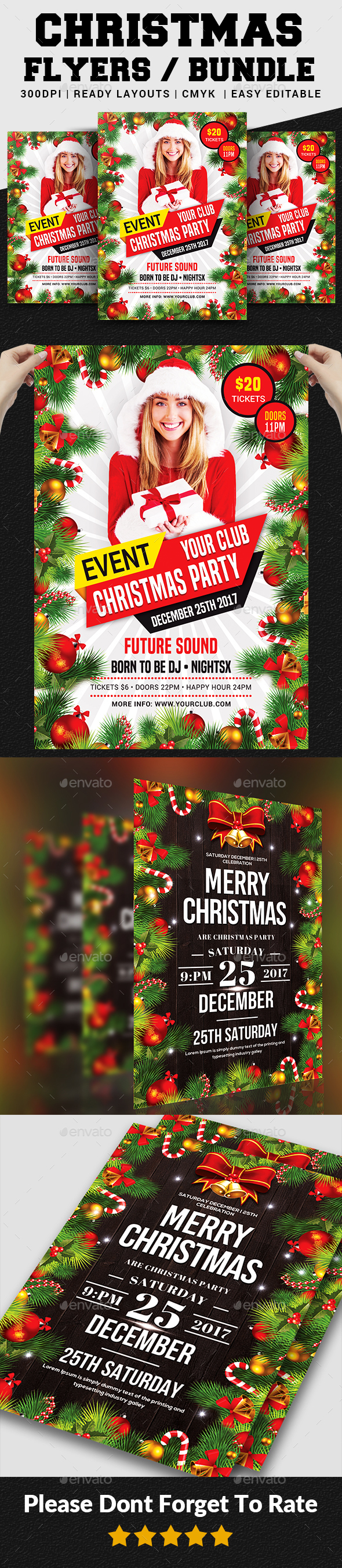 Christmas Flyers Bundle - Events Flyers
