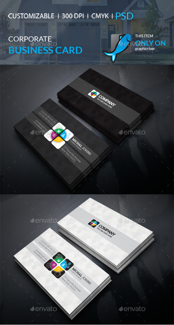 GraphicRiver Corporate Business Card 21098705