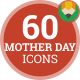 Mother Day Motherhood Pregnant Woman Baby Maternity Icon Set - Flat Animated Icons
