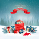 Holiday Christmas Background With a Sack Full of Gift Boxes - GraphicRiver Item for Sale