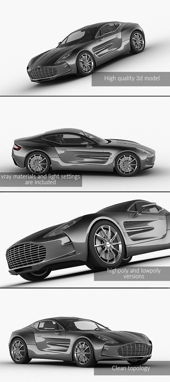 3DOcean Aston Martin One-77 2010 Vray model 21098839